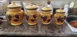 Set of 4 Canisters with grapes for Sale in Phoenix, AZ