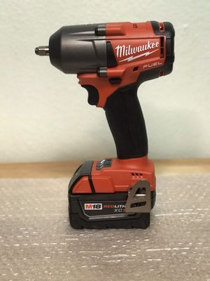 Today only.... Milwaukee m18 fuel 3/8 mid torque 450-ft-lbs .....and battery....$200...... pickup only..... brand new..... first come first serve..... for Sale in Rialto, CA
