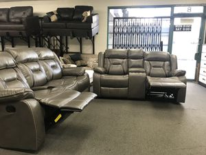 New leather recliner couch and love seat set for Sale in Los Angeles, CA