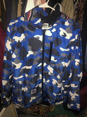 **Very Rare** Bape Blue Camo Raincoat for Sale in Columbus, OH