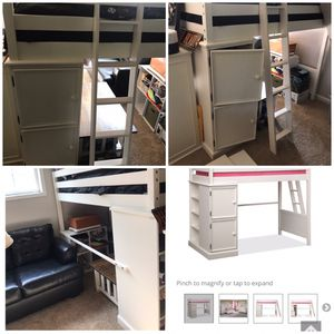 Loft bed with storage for Sale in De Motte, IN