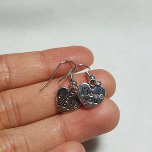 I Love you Silver Plated charms Earrings for Sale in Queens, NY
