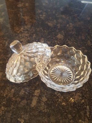 ICE GLASS CANDY DISH for Sale in Phoenix, AZ