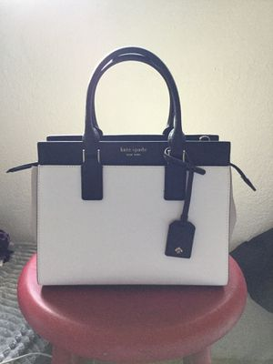 Kate Spade Cameron Medium Satchel (White and Black) for Sale in Menifee, CA