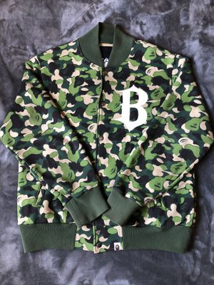 Bape green abc camo varsity for Sale in Norco, CA
