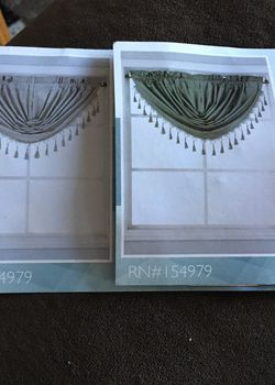 Microfiber With Foam Back Valances,,, 2 Valances Ones Silver And Other Grey for Sale in Waterbury,  CT