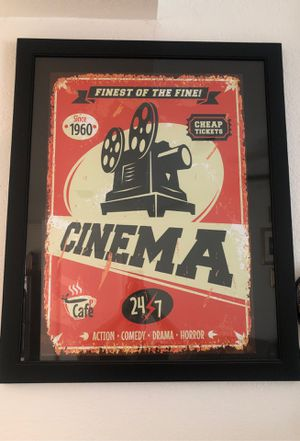 Theater poster with frame for Sale in Turlock, CA