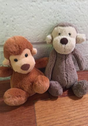 Jellycat monkey and orangutan plush toys Stuffies stuffed animals Eater basket kids for Sale in Las Vegas, NV