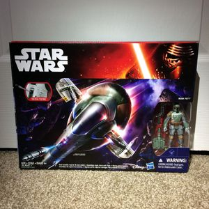 Star Wars Action Figures Vintage Boba Fett's Slave 1 Vehicle Playset for Sale in Concord, CA