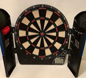 Franklin Digita-Electronic Soft-Tip Dart Board Cabinet #1150300229 -Games TESTED for Sale in Waukegan,  IL
