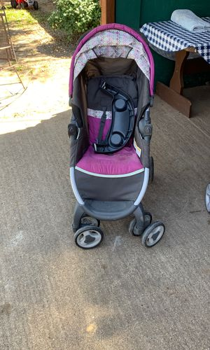 Babygirl Strollers in great condition normal used play area normal used bike in great condition for Sale in Dallas, TX