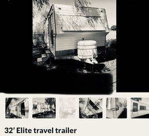 """Travel Trailer for Sale 32' 32 foot 4"""" tow hitch tarps DIY FIXER UPPER. Barter. Trade. for Sale in La Habra Heights, CA"""
