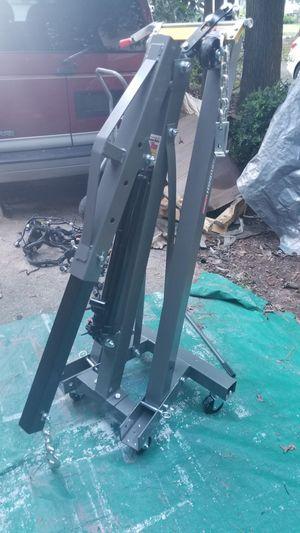 PITTSBURGH 1 Ton Capacity Foldable Shop Crane Hoist Included 3/4 Ton Capacity Heavy Duty Load Leveler for Sale in Garner, NC