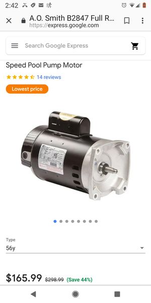 Tub motor plus pump for Sale in Seattle, WA