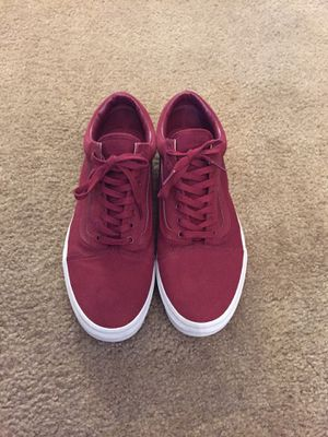 Burgundy low-top vans size 13 for Sale in Midland, MI
