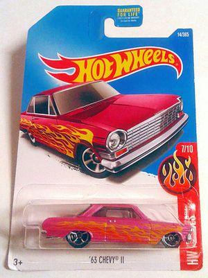 2016 HOT WHEELS '63 CHEVY II PINK 14/365 HW FLAMES 7/10 for Sale in Whittier, CA