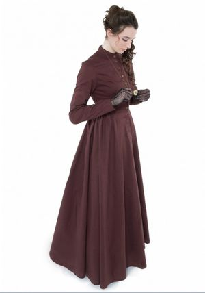 Recollections Victorian Black Cotton Dress | Medium for Sale in Portland, OR