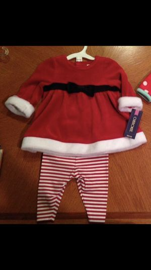 Brand new baby girls Santa christmas outfit, size 0-3 months for Sale in Plantation, FL