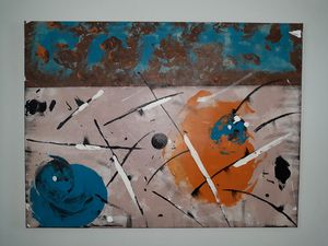 Large hand-painted abstract original art piece for Sale in Tampa, FL