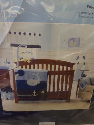 Nautical kids whale themed bedding for Sale in Cleveland, OH
