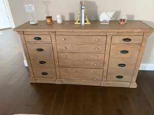 Pottery Barn Lucca collection dresser. Barely used. Excellent condition 750.00 for Sale in Bakersfield, CA