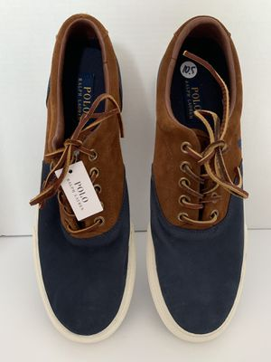 NWT Men's Polo Ralph Lauren Vaughn Saddle Suede/Leather Navy Blue Sneakers-10.5D for Sale in Alexandria, VA