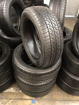 225/55/17 set of Yokohama tires installed for Sale in Rancho Cucamonga, CA