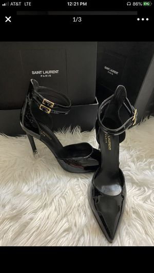 SAINT LAURENT ANKLE STRAP BABY DOLL HEELS (AUTHENTIC) FIRM PRICE for Sale in Vista, CA