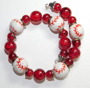 Baseball Red Bracelet for Sale in Reed City, MI