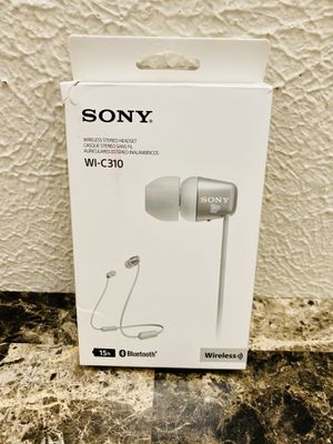New Other Sony WI-C310 Wireless Bluetooth in-Ear Headphones, White for Sale in Carrollton, TX
