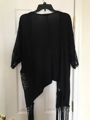 XL Charlotte Russe Lace/Fringe Kimono for Sale in Manchester, PA
