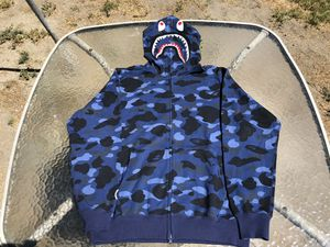 Bape Blue Color Camo Shark Full Zip Hoodie for Sale in GLMN HOT SPGS, CA