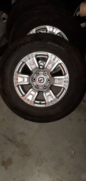 """2017 Stock Nissan Titan 18"""" Rims and Tires for Sale in Brentwood, CA"""