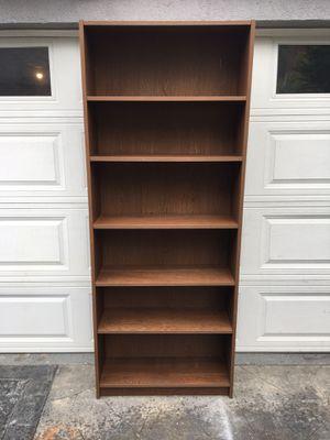 Premium wooden dark Oak melamine 6-layer shelves bookcase. Measurements 31 3/4 x 11 x 76 for Sale in Long Beach, CA