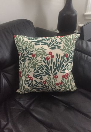 Crate and Barrel Holly Berry Pillow for Sale in Waltham, MA