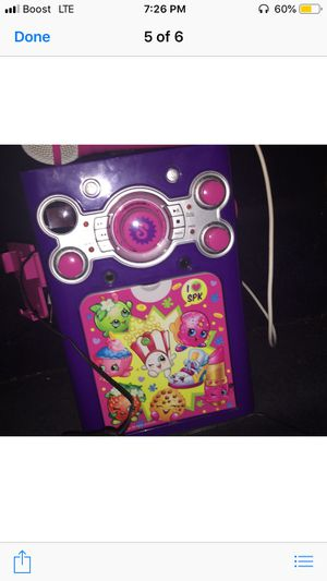 Shopkins disco karaoke machine for Sale in Hazelwood, MO
