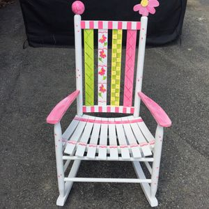Hand painted adult size rocking chair for Sale in Ashland, MA