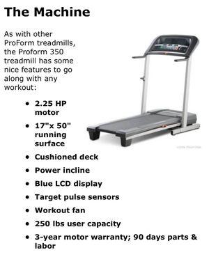 Pro-Form 350 Treadmill for Sale in Renton, WA