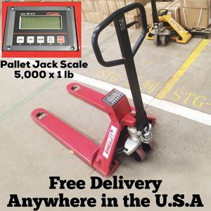 Pallet Jack Scale 5,000 x 1 lb 27″ Width x 48″ Length x 2.9″ for Sale in Ontario, CA