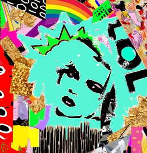 5FT X 4FT Street POP Art Canvas Painting Graffiti Urban Abstract Acrylic Collage Wood Frame Panel for Sale in North Palm Beach, FL