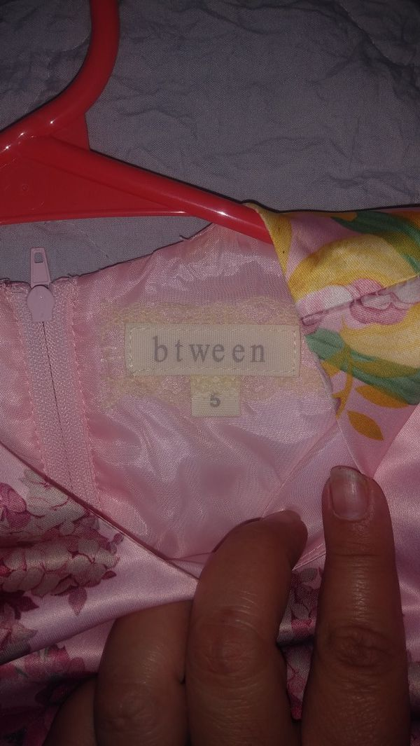 Girls Pink flower dress