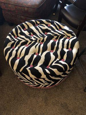 """Ottoman with storage Zebra 29"""" for Sale in McKinney, TX"""