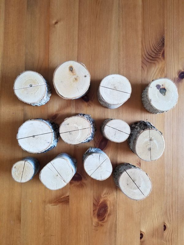 Wood Card/Sign Holders - 14 total