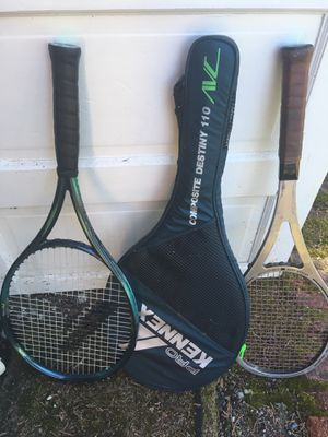 2 tennis racket & one cover for Sale in Seattle, WA
