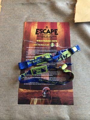 2 Escape 2 Day Wristbands for Sale in Anaheim, CA