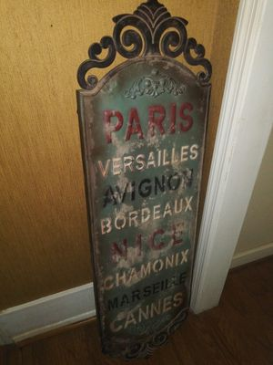 3.2 feet tall French metal sign RARE for Sale in Atlanta, GA