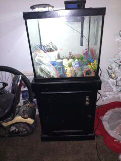 30 gallon Fish tank and stand plus some for Sale in Norman, OK