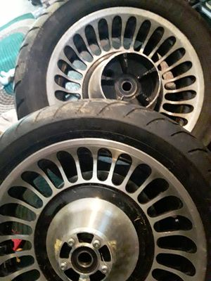 Harley Davidson bagger front and rear wheels and tires for Sale in Clarksburg, WV
