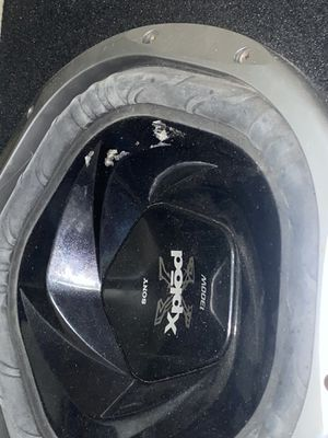 Explod subs they are new just a little dusty 1300watts it's 2 12's box made for f150 or Chevy truck for Sale in San Bernardino, CA