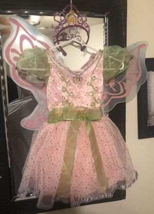 Disney 4-6 Fairy costume with Disney Crown & detachable wings for Sale in Salt Lake City, UT
